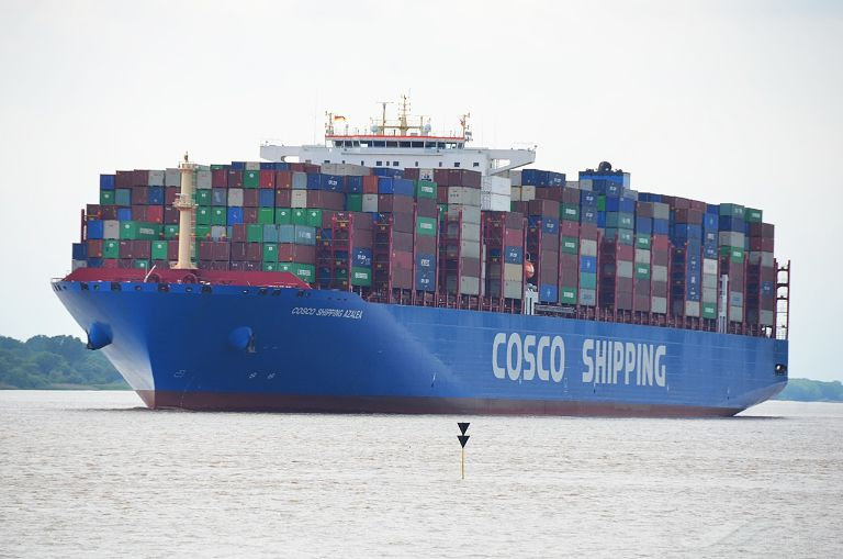 COSCO AZALEA, Container Ship - Details and current position - IMO