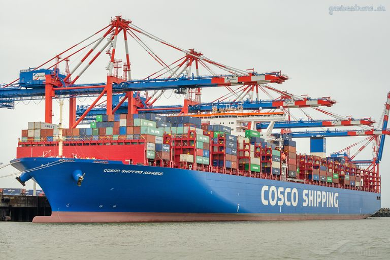 COSCO AQUARIUS, Container Ship - Details and current
